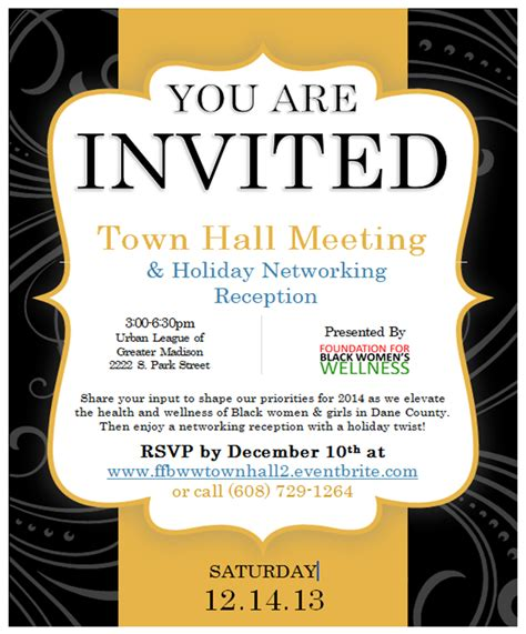 The Gallery For Gt Town Hall Meeting Invitation Template Town Invite Template