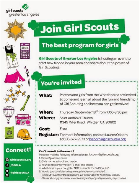 girl scout templates for flyers montebello mom join girl scouts informational meeting