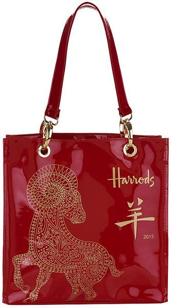 new year bag harrods small new year 2015 shopper bag in lyst