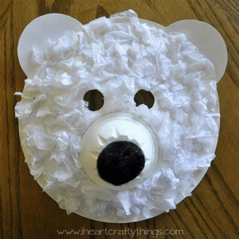 Things To Make Out Of Paper Plates - polar masks i crafty things