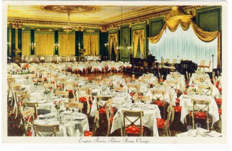 empire room palmer house chicago postcard museum early 20th century wing chicago hotels restaurants