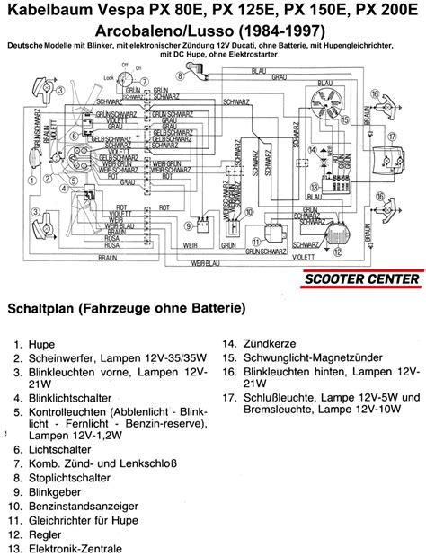 vespa px 125 wiring diagram 2000 gmc wiring diagrams