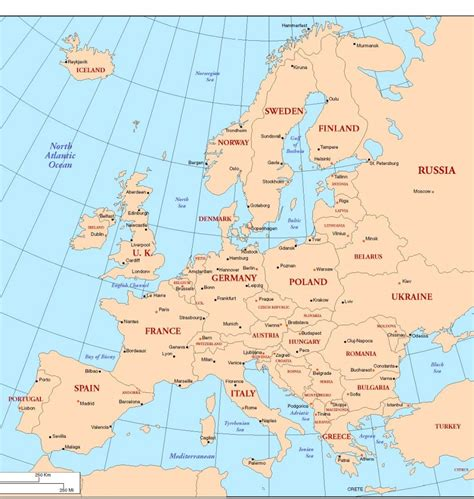 europe map countries and capitals european countries and capitals pictures to pin on