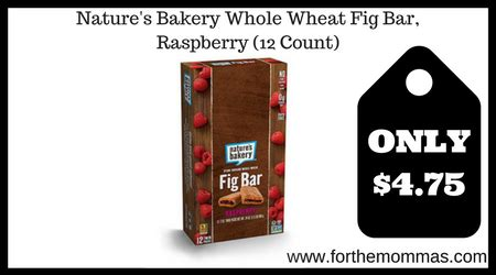 Nature 39 S Bakery Whole Wheat Fig Bar Raspberry Box Of 6 nature s bakery whole wheat fig bar raspberry 12 count