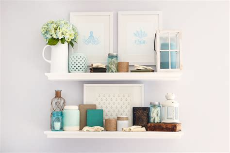 shelf decorations coastal summer shelf decor just a girl and her blog
