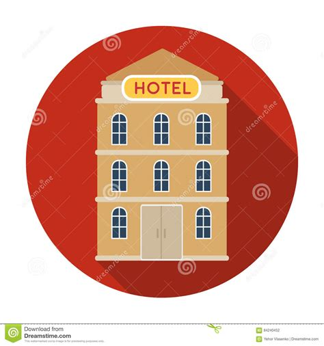 design icon by hotel hotel hotel building icon in flat style isolated on white
