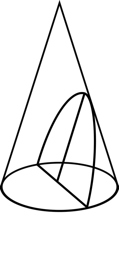 conic sections parabolas conic section showing a parabola clipart etc