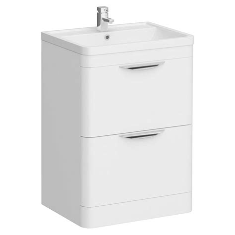 Floor Standing Vanity Unit by Monza Floor Standing Vanity Unit W Basin W600 X D445mm At