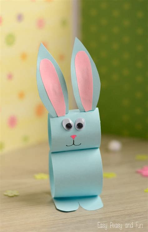 How To Do Crafts With Paper - paper bunny craft easy easter craft for easy