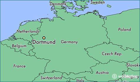 dortmund map of germany where is dortmund germany dortmund rhine