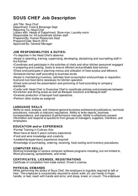 assistant chef cv template tips and download cv plaza