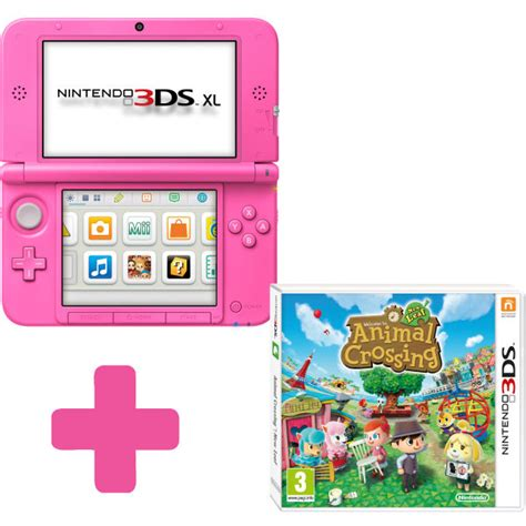animal crossing new leaf 3ds console nintendo 3ds xl pink console animal crossing new leaf