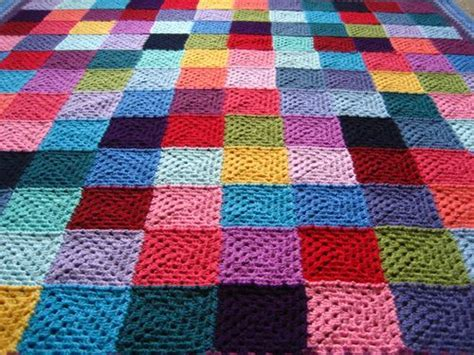 Crochet Patchwork - attic 24 squares and join as you go method