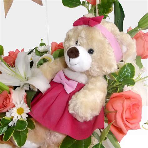 imagenes de rosas y peluches peluches de amor con rosas y lirios fo 2 arreglos