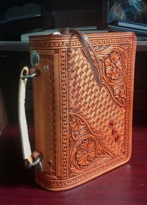 Handmade Leather Bible Cover - the gallery for gt custom leather bible cover