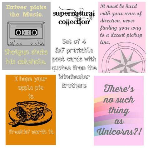 Printable Supernatural Birthday Cards