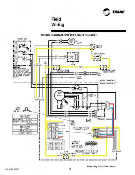 trane xl80 gas furnace wiring diagram get free image