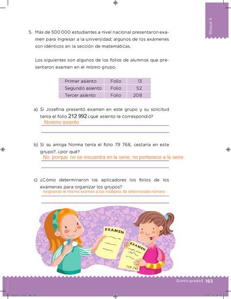 libro de matematicas segundo grado bloque 5 contestado ayuda para tu tarea quinto desaf 237 os matem 225 ticos bloque 5