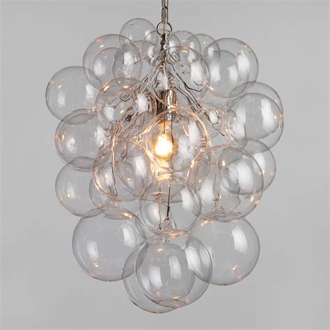 Glass Bubbles Chandelier Glass Orb Chandelier World Market