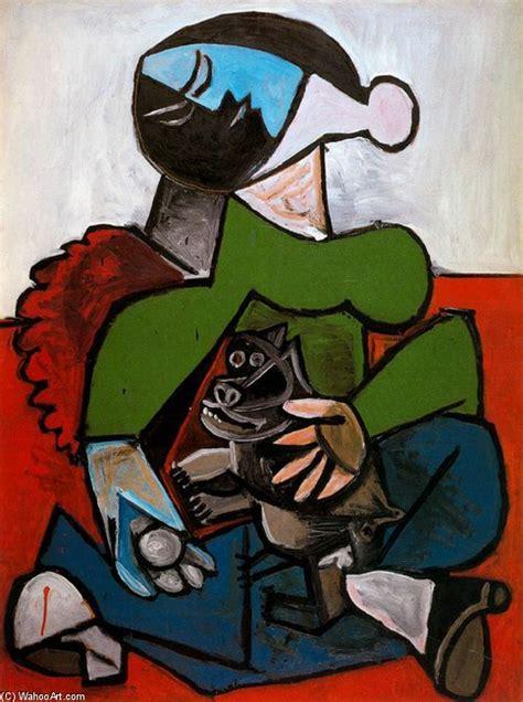 picasso paintings of dogs femme assis avec chien huile de pablo picasso 1881 1973