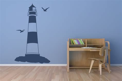 seaside wall stickers lighthouse at the seaside wall sticker wall