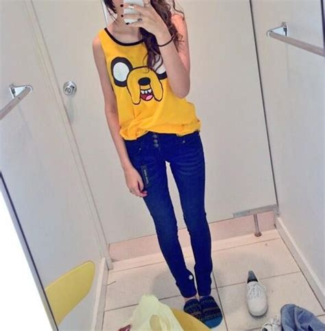 the clothes make the look adventures and agonies in fashion books tank top yellow clothes adventure time jake the