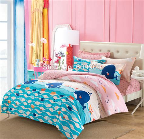 sea themed bedding pink and blue whale ocean theme sea fish bedding girls