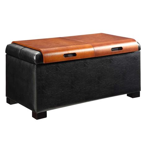 black coffee table ottoman coffee table ottoman in black 163020b