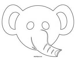 Elephant Mask Template by Elephant Mask Gallery