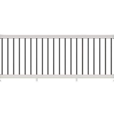 veranda 36 in x 116 in white vinyl premier rail with