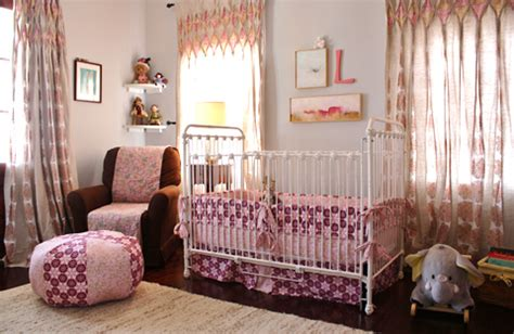 Pink And Brown Curtains For Nursery Pink And Brown Nursery Design Ideas