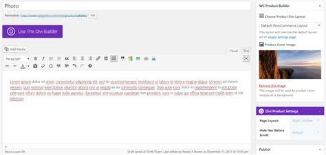 product layout description divi plugin highlight wc product builder elegant