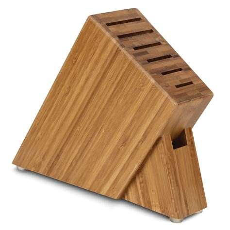 cutlery more cutlery and more slim knife block 7 slot bamboo cutlery