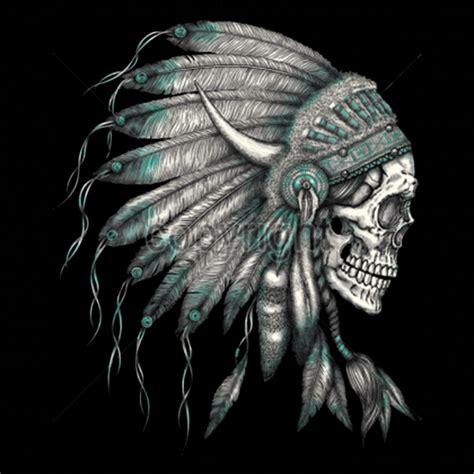 native american skull tattoos american skull