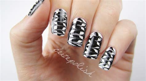 easy nail art cutepolish melted monochrome nail art youtube