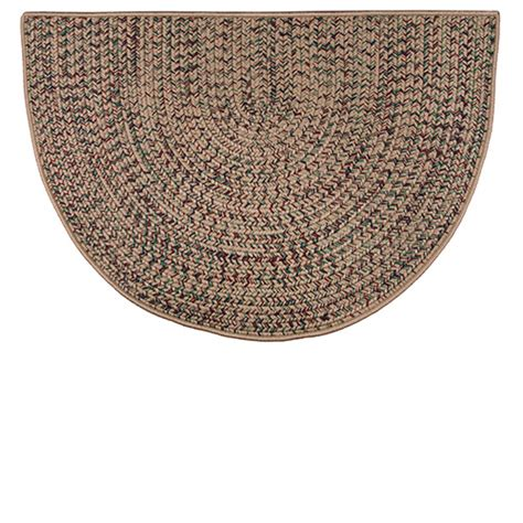 Goods Of The Woods Hearth Rugs by Goods Of The Woods Beige Braided Polyester Half