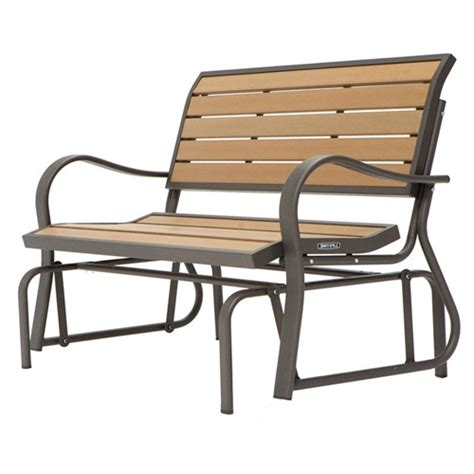 4 foot loveseat 4 ft weather resistant outdoor loveseat glider bench in