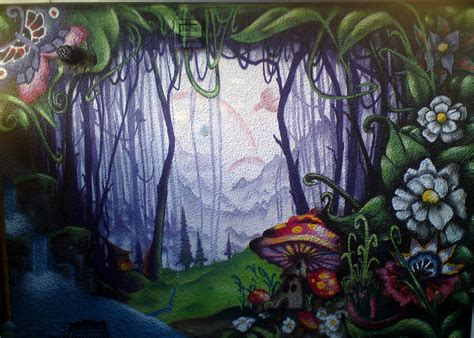 World Map Wall Murals enchanted forest me and poster using up a few dregs on a