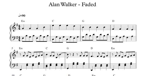alan walker chord faded play popular music faded alan walker