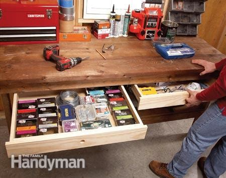 Diy Workbench With Drawers by Diy Workbench Upgrades The Family Handyman