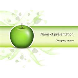 green apple powerpoint template amp background for presentation
