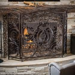 wrought iron fireplace screen ebay