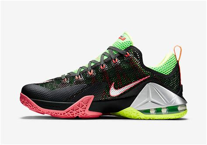 Sepatu Basket Nike Lebron12 Low Black Green Lebronjames Sneakers upcoming nike lebron 12 low combines volt and lava sneakernews