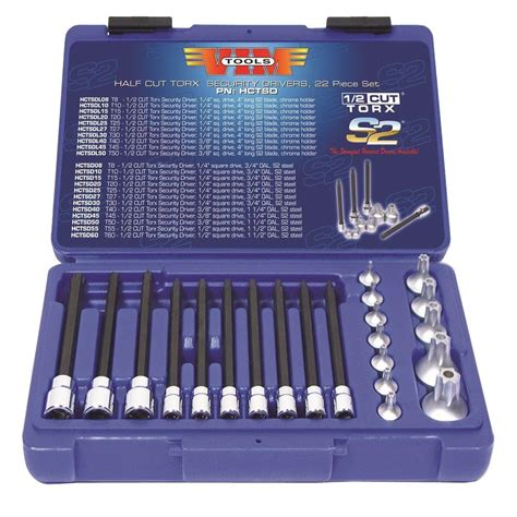 vim tools half cut torx security drivers set 22