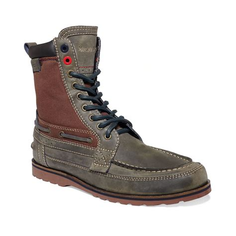 mens hilfiger boots hilfiger hawk boots in gray for grey rum rasin