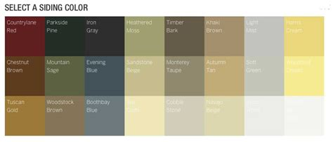 hardiplank siding colors hardie siding color chart hardi siding color sles