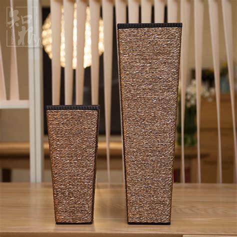 Large Wooden Floor Vases by Rectangular Vase Floor Wooden Vase Home Decoration Large