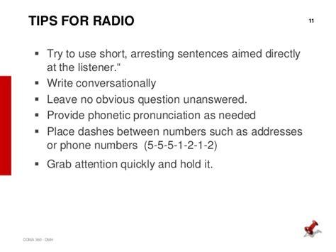 radio announcement template psa exles