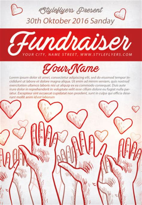 community fundraiser free flyer template download for