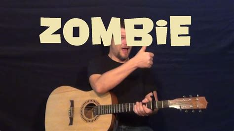 zombie guitar tutorial easy zombie the cranberries guitar lesson easy strum beginner